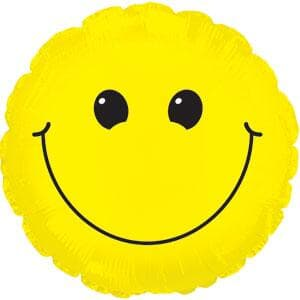 "Smiley Face. 9""(23cm) with valve.inc cup/stick"