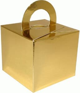 Balloon Weight or Gift Box Gold 5.5 high by 6.2 square. Add your own weight