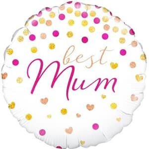 Oaktree Best Mum Holographic 45cm Foil