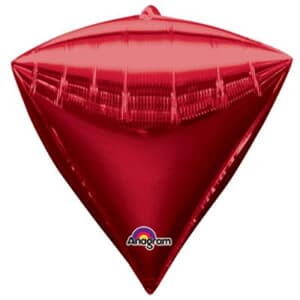Diamondz Bright Red Solid Colour 40cm x 43cm