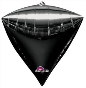 Diamondz Black Solid Colour 40cm x 43cm