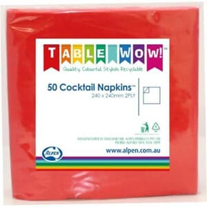 Napkins Cocktail Red P50