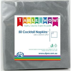Napkins Cocktail SilverP50