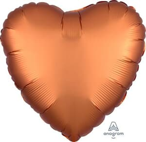 Heart Satin Luxe Amber Anagram packaged 45cm
