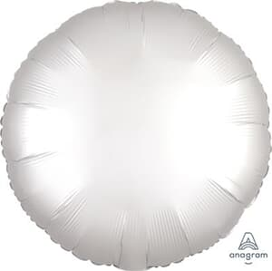 Circle Satin Luxe White Anagram packaged 45cm