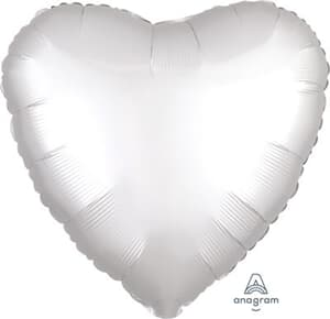 Heart Satin Luxe White Anagram packaged 45cm not available until sept