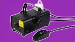Electric fog machine with wired remote.