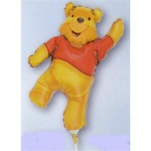 Mini Shape pooh full body Air filled with cup and stick.