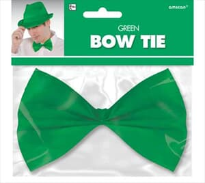 Bow Tie Green 14.5cm  in Hang Sell Pack