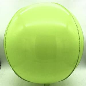 "Plastic Balloon Balls 22"" - 56cm Lime Green Plastic self sealing"