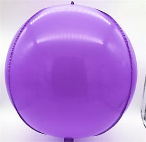 "Plastic Balloon Balls 22"" - 56cm Purple self sealing"