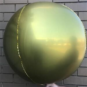 "Foil Balls 32"" - 81cm Chrome Gold pack 2 -self sealing"
