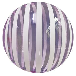 "Bobo Balloon Balls Stripe Purple 18"" 45cm."