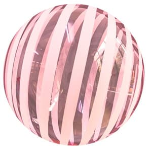 "Bobo Balloon Balls Stripe Red 18"" 45cm."