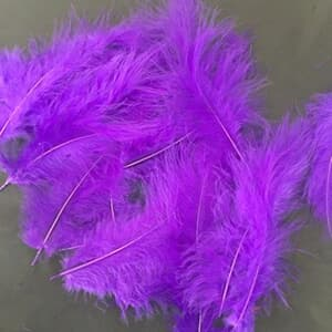 Purple feather decoration for Bubble and latex balloon