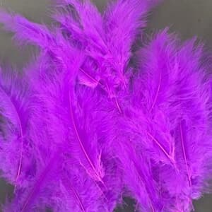Purple Violet feather decoration for Bubble and latex balloon