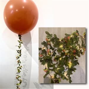 Flower Garland Light Up With Small Rosebuds 2.4mtrs light lasts upto 12 hours