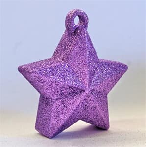 Glitter Star Weight 150g Lilac