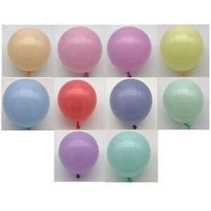 "Macaron Coloured Latex 12cm 5"" Pastel Assortment"