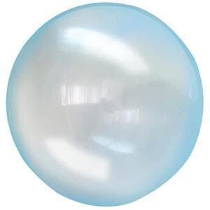 Latex clears Blue 43cm balloon Fantastic garland addition-perfectly round