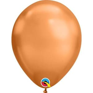 "Qualatex Balloons 7"" - 17.5cm Chrome Copper"