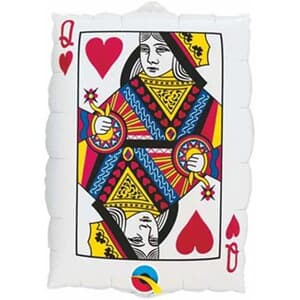 Queen of Hearts / Ace of Spades Casino Helium Shape 76cm