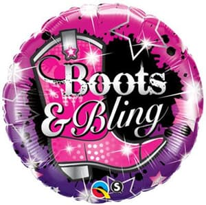 Qualatex Balloons Boots and Bling 45cm