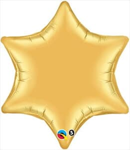 6 Point Star Gold 55.8cm