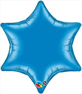 6 Point Star Blue 55.8cm