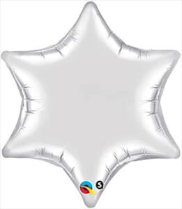 6 Point Star Silver 55.8cm