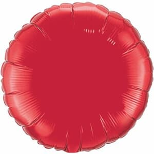 Qualatex Balloons 10cm Circle Ruby Red