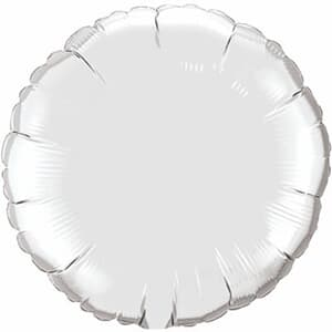 Qualatex Balloons 10cm Circle Silver