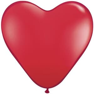 Hearts Latex Jewel Ruby Red 38cm 50ct