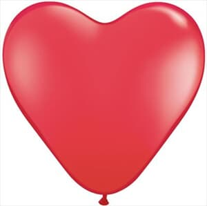 Hearts Latex Red 38cm