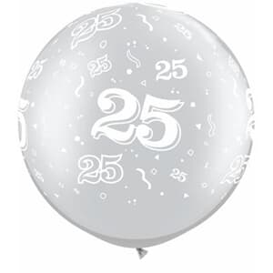 Qualatex Balloons 25 Around 76cm Silver