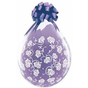 Qualatex Balloons Flower & Filigree Diamond Clear White Ink 45cm