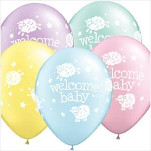 Qualatex Balloons Welcome baby lambs 28cm