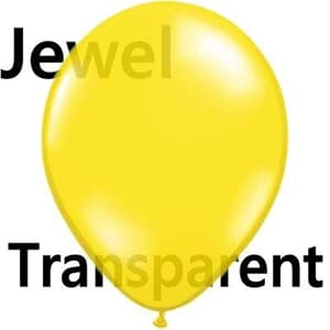 Qualatex Balloons Jewel Citrine Yellow 40cm