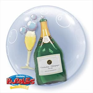 Bubbles Champagne and Glass Double Bubble 60cm