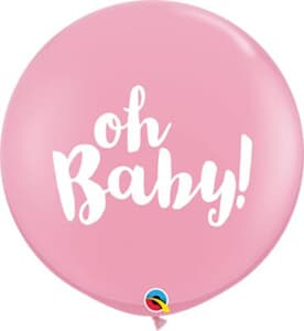 Qualatex Balloons Oh Baby Pink 90cm