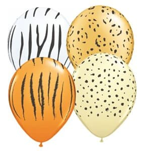 Qualatex Balloons Safari Assortment 12cm