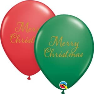 Simply Merry Christmas Script Green and Red
