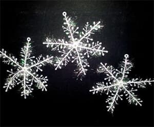 Frozen Snowflake 15cm pack of 3
