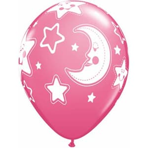 Baby Moon And Stars pearl pink