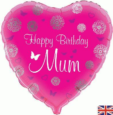 Oaktree Happy Birthday Mum Heart 45cm Foil