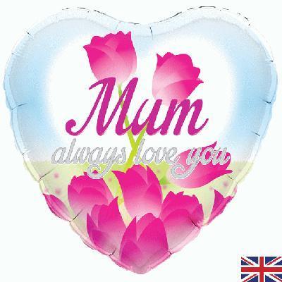 Oaktree Mum Always Love You Holographic 45cm Foil