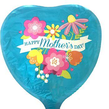 Happy Mothers Day Blue Floral 23cm