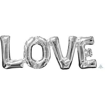 SuperShape Phrase LOVE Silver 63cm  x 22cm
