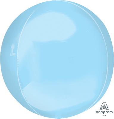 Orbz Pale Blue Dazzling Solid Colour 43cm x 45cm