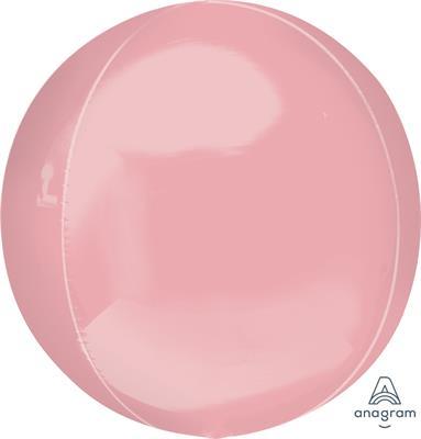 Orbz Pale Pink Dazzling Solid Colour 43cm x 45cm
